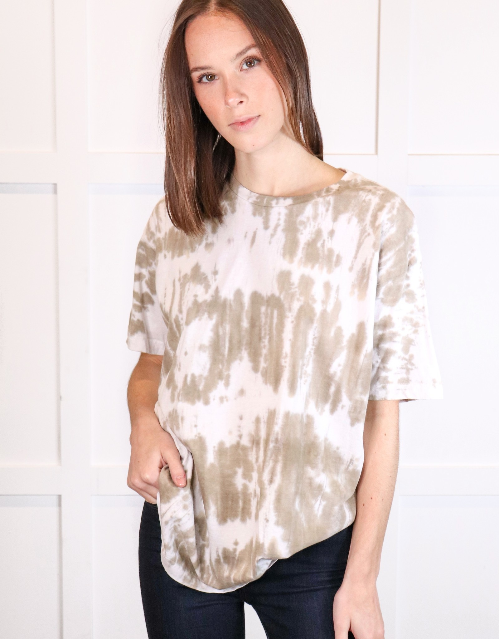 HUSH Tie dye brushed oversized shirt
