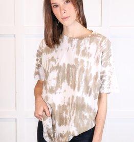 HUSH Tie dye brushed oversized shirt