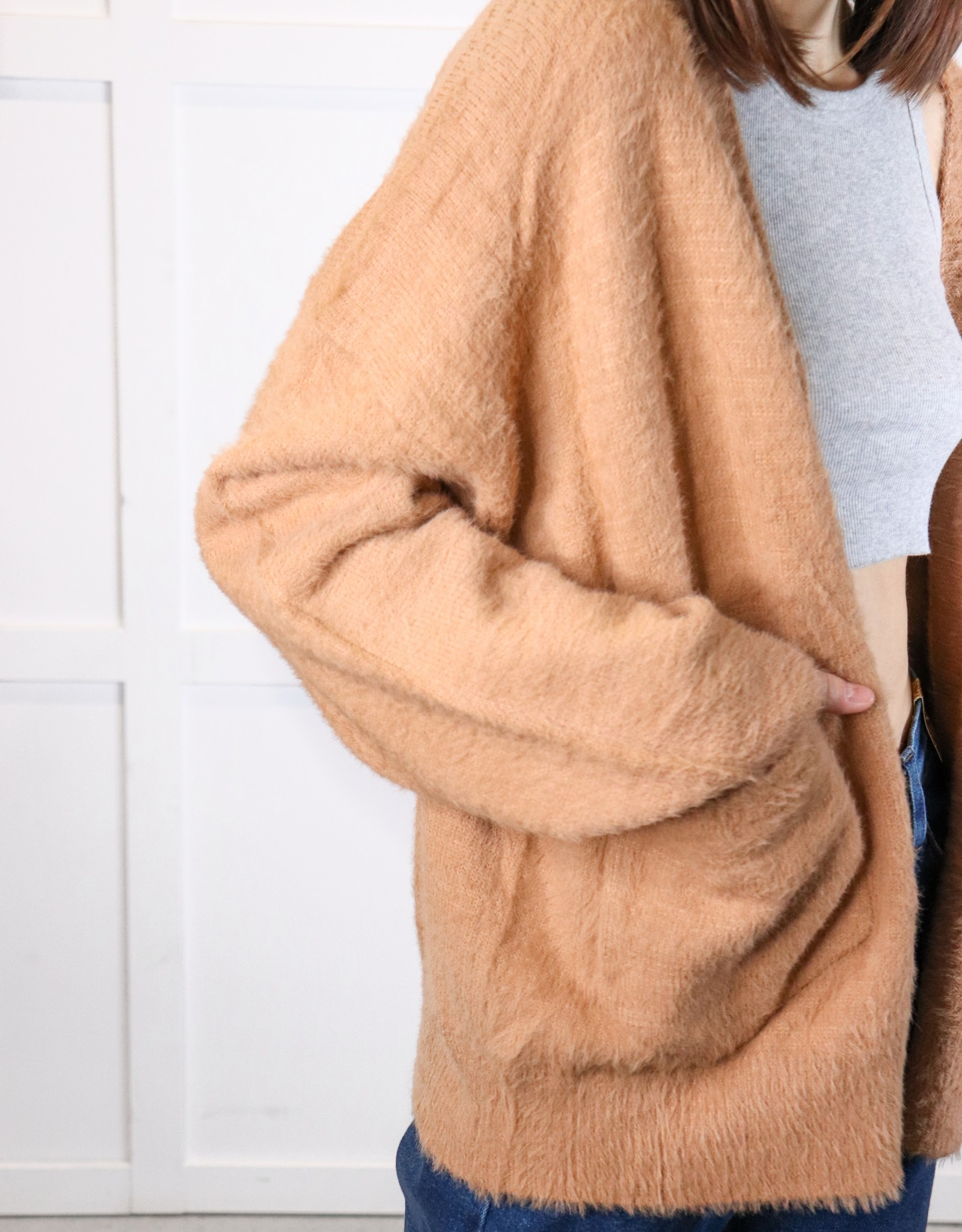HUSH Basic mohair sweater cardigan