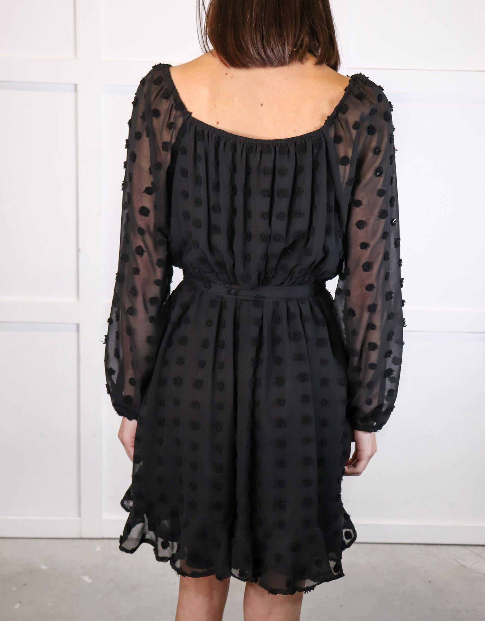 HIGH LOW - HUSH COLLECTION Long slv ruffle dress