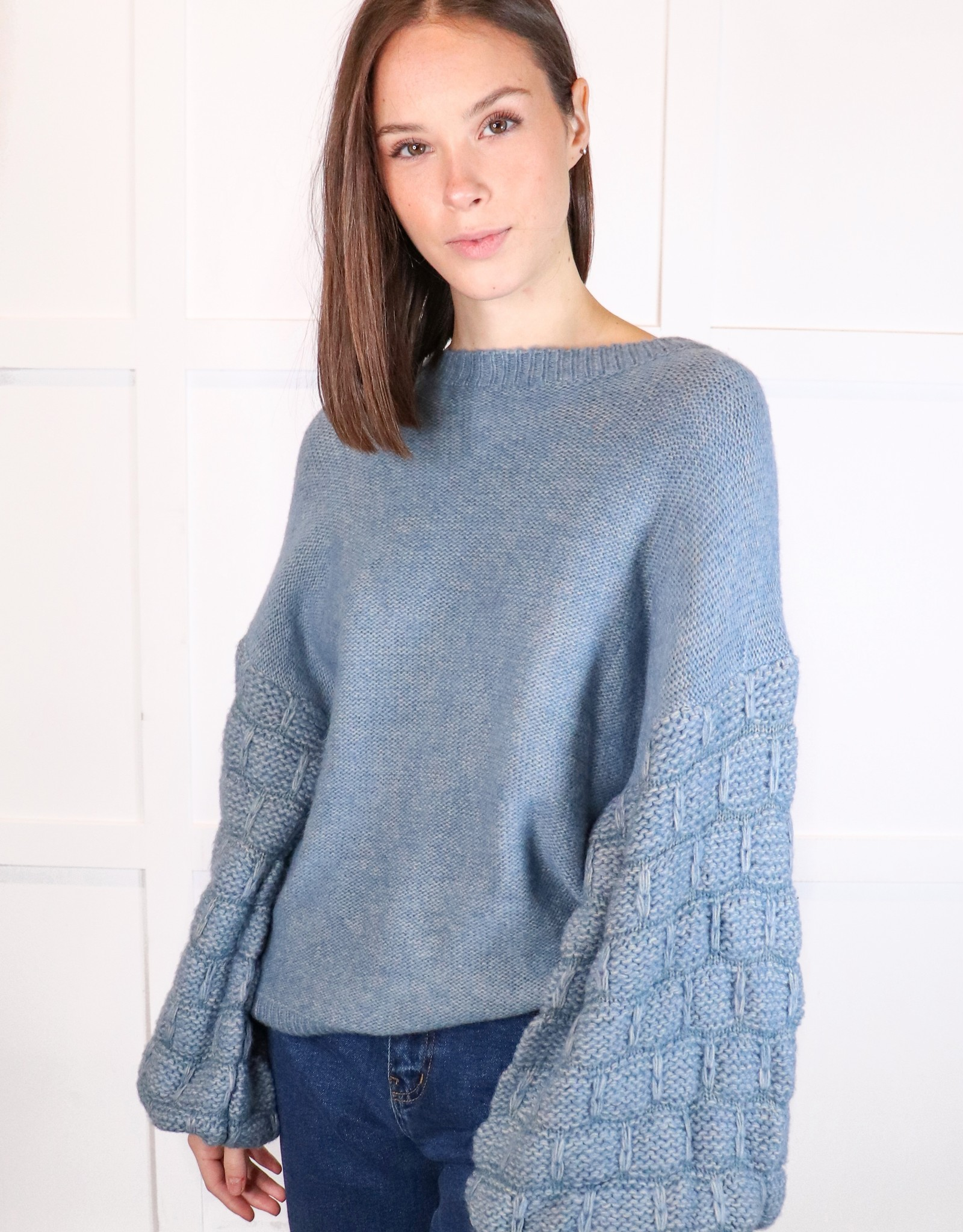 HUSH Baloon slv textured sweater
