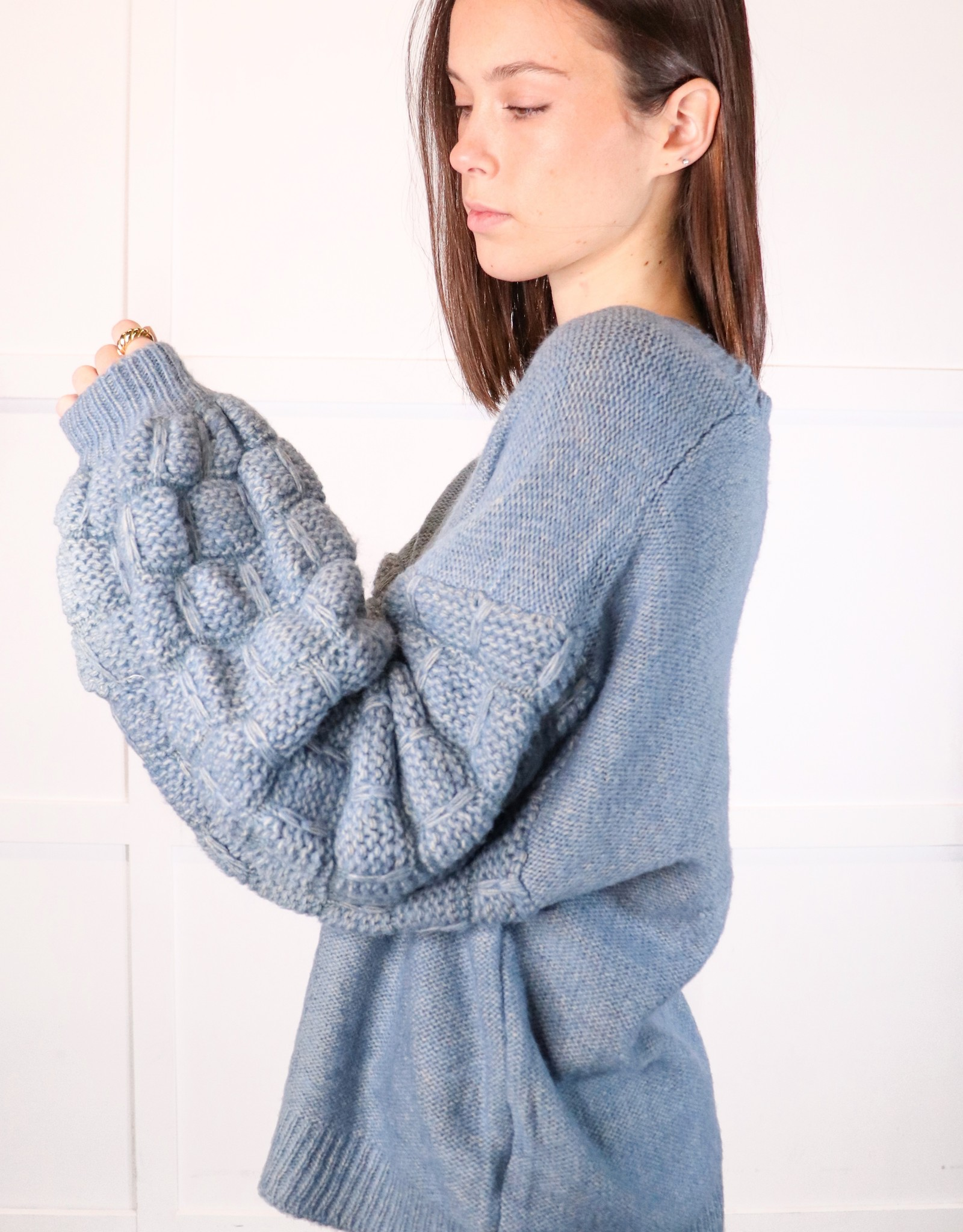 HUSH Baloon slv textured sweater