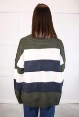 HUSH Colour block stripe sweater