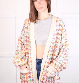 HUSH Tweed cardigan