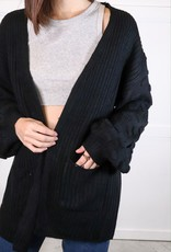 HUSH Textured sleeve cardigan