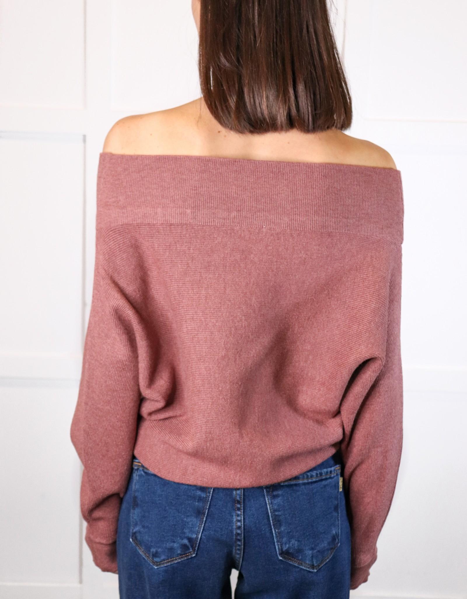 HUSH Off shoulder dolman slv sweater