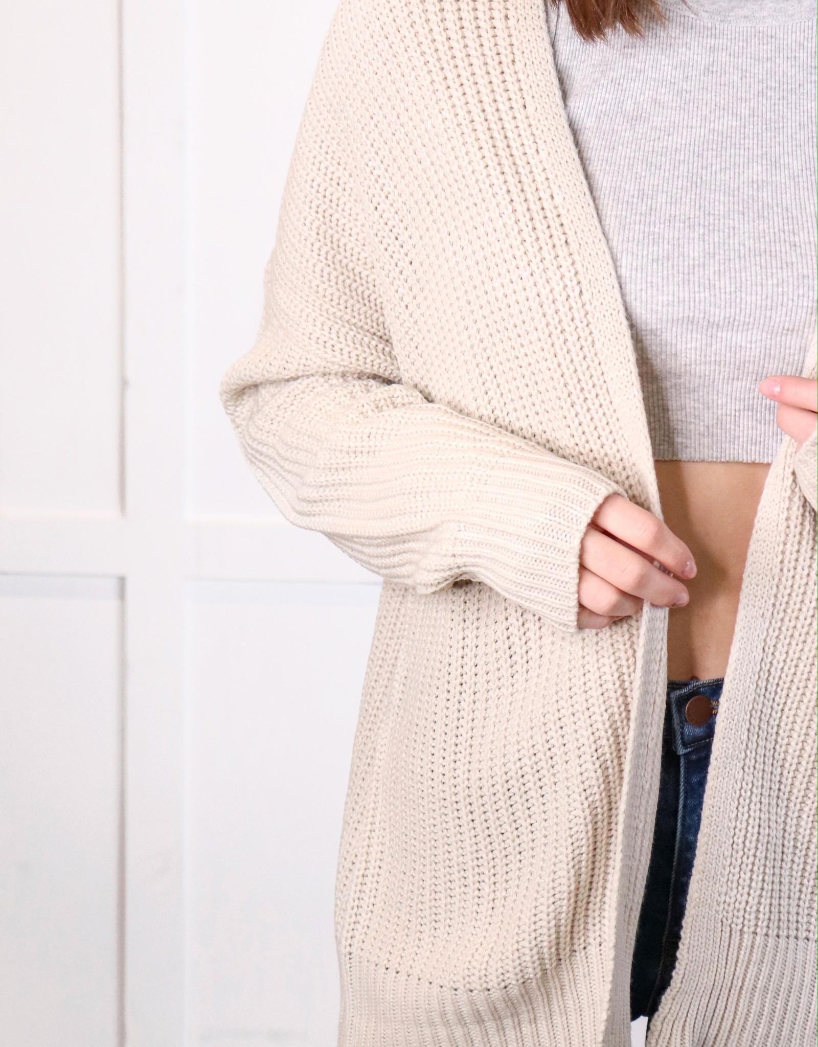 HUSH Basic drop shoulder oversized cardigan