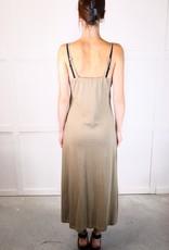 HUSH Midi length solid tank dress