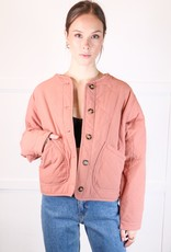 HUSH Quilted bomber jacket w/ pockets