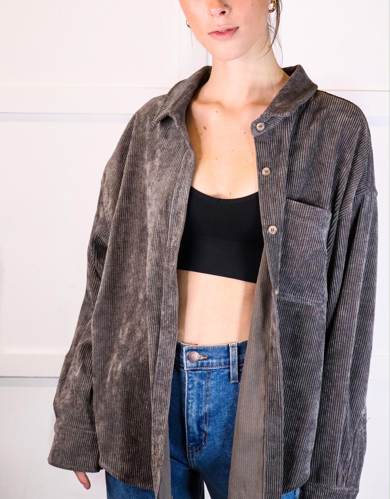 HUSH Corduroy oversized shirt jacket