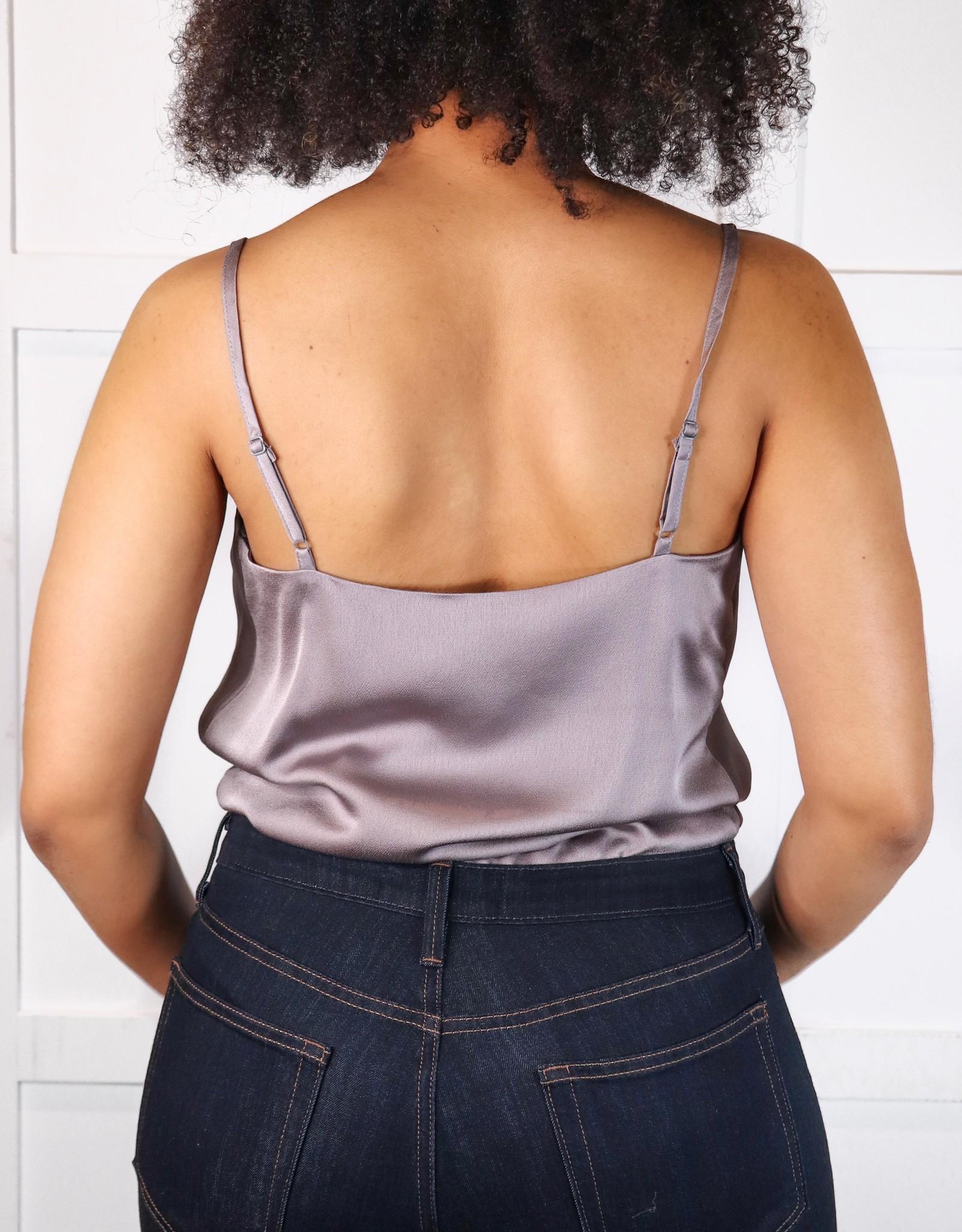 HUSH Satin cowl neck cami bodysuit