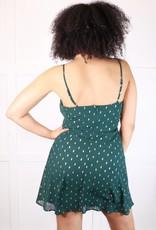 HUSH Foil print woven cami dress
