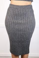 HUSH Ribbed knit sweater midi skirt