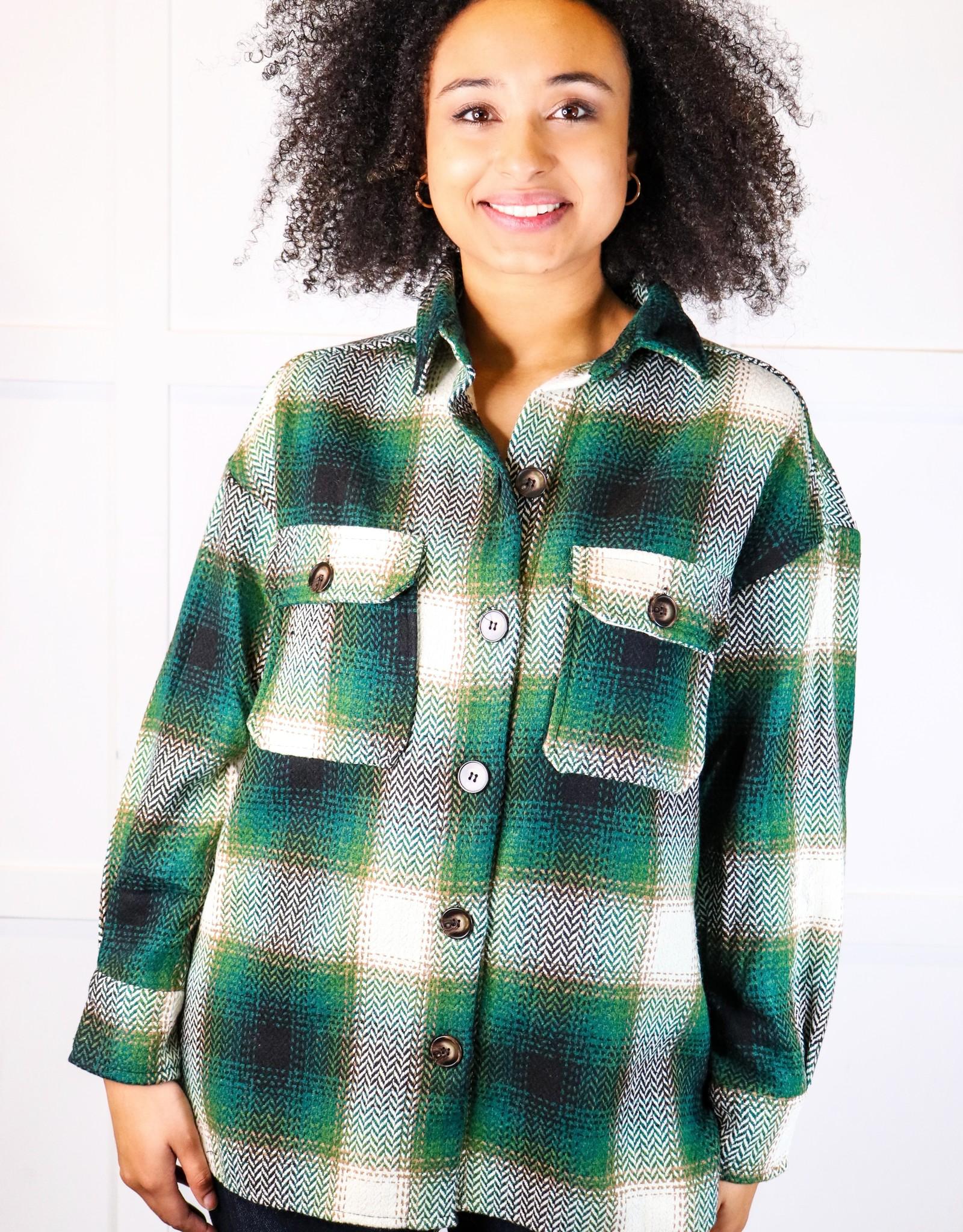 HUSH Oversized plaid light weight jacket