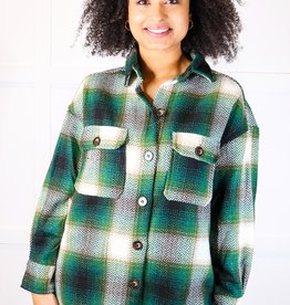 HUSH Oversized plaid light weight jacket