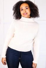 HUSH Mock neck knit l/s sweater