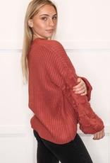 HUSH Detailed sleeve oversized knit sweater