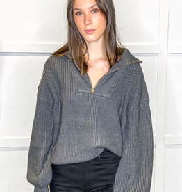 HUSH Mockneck Pullover Sweater