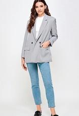 HUSH Oversized plaid blazer