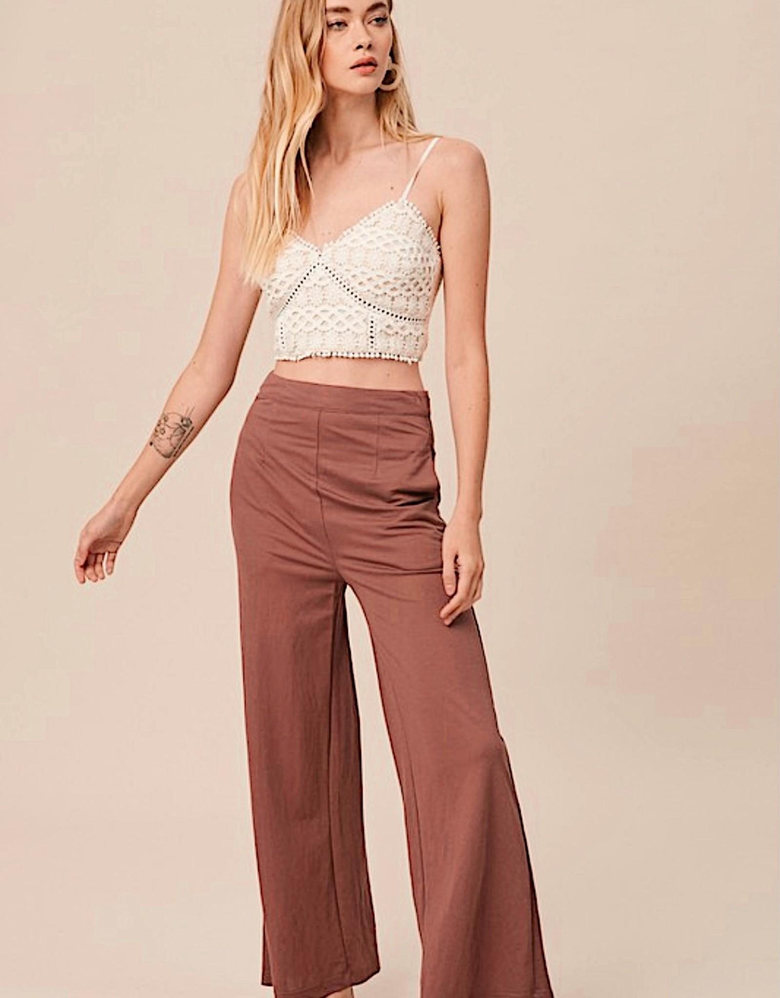 HUSH High waist soft touch trousers