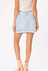 HUSH Distressed denim skirt