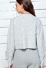 HUSH Cropped knit sweater cardigan