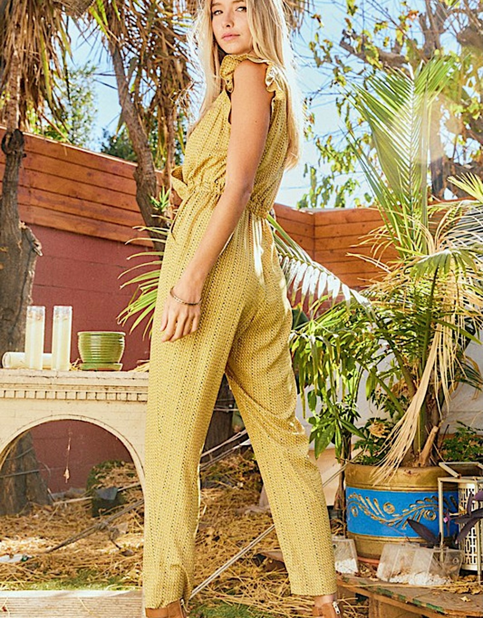 HUSH Ruffle short sleeve jumpsuit