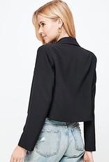 HUSH Long sleeve single button cropped blazer
