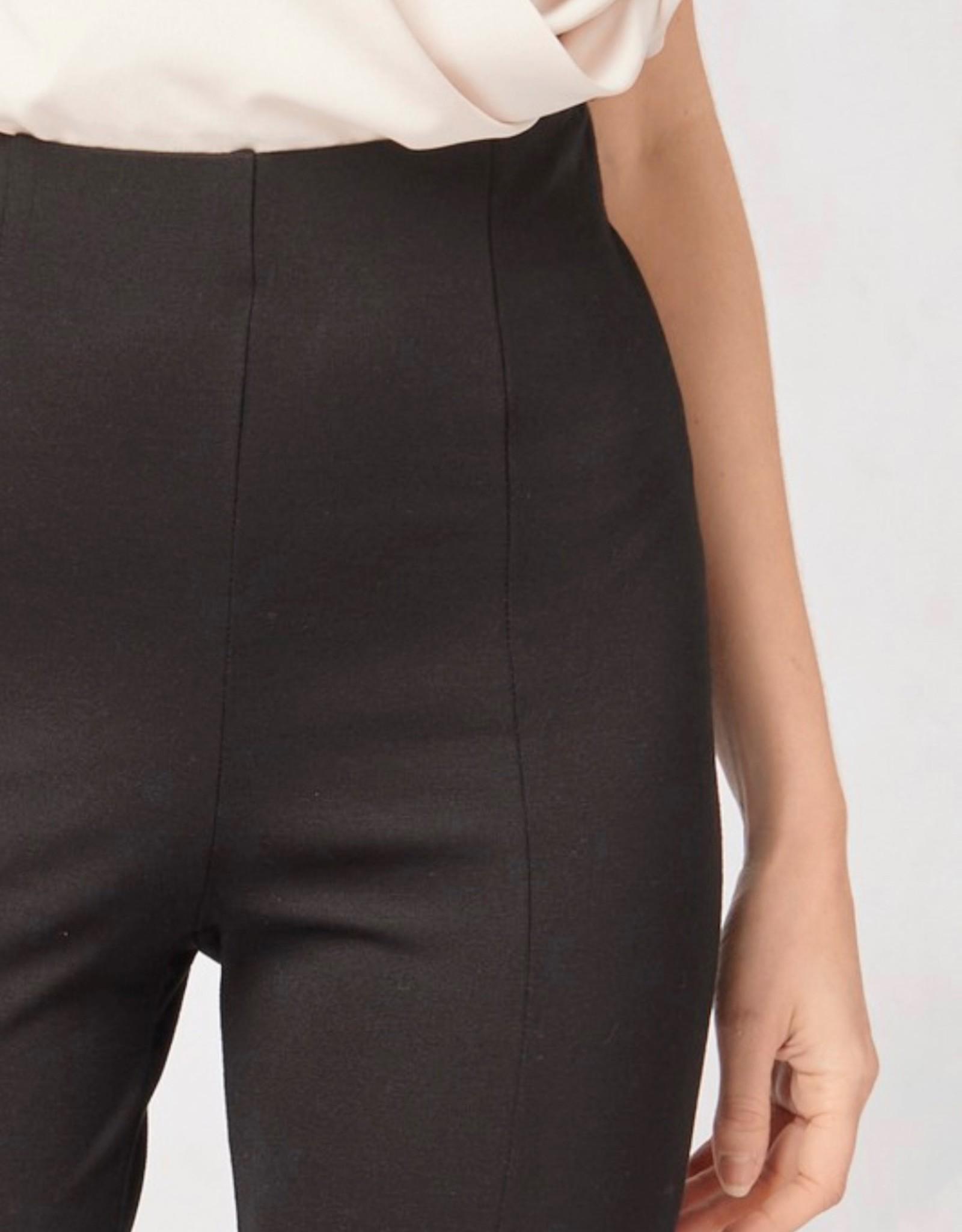 HUSH Pointe split hem skinny cut pants