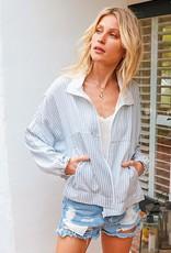 HUSH Stripe windbreaker jacket