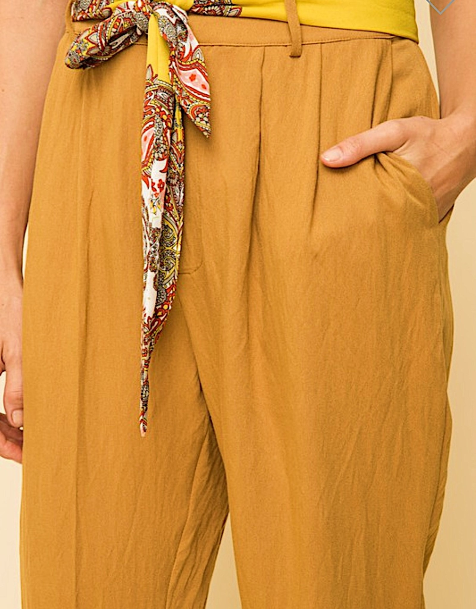 HUSH Scarf tie waist trousers