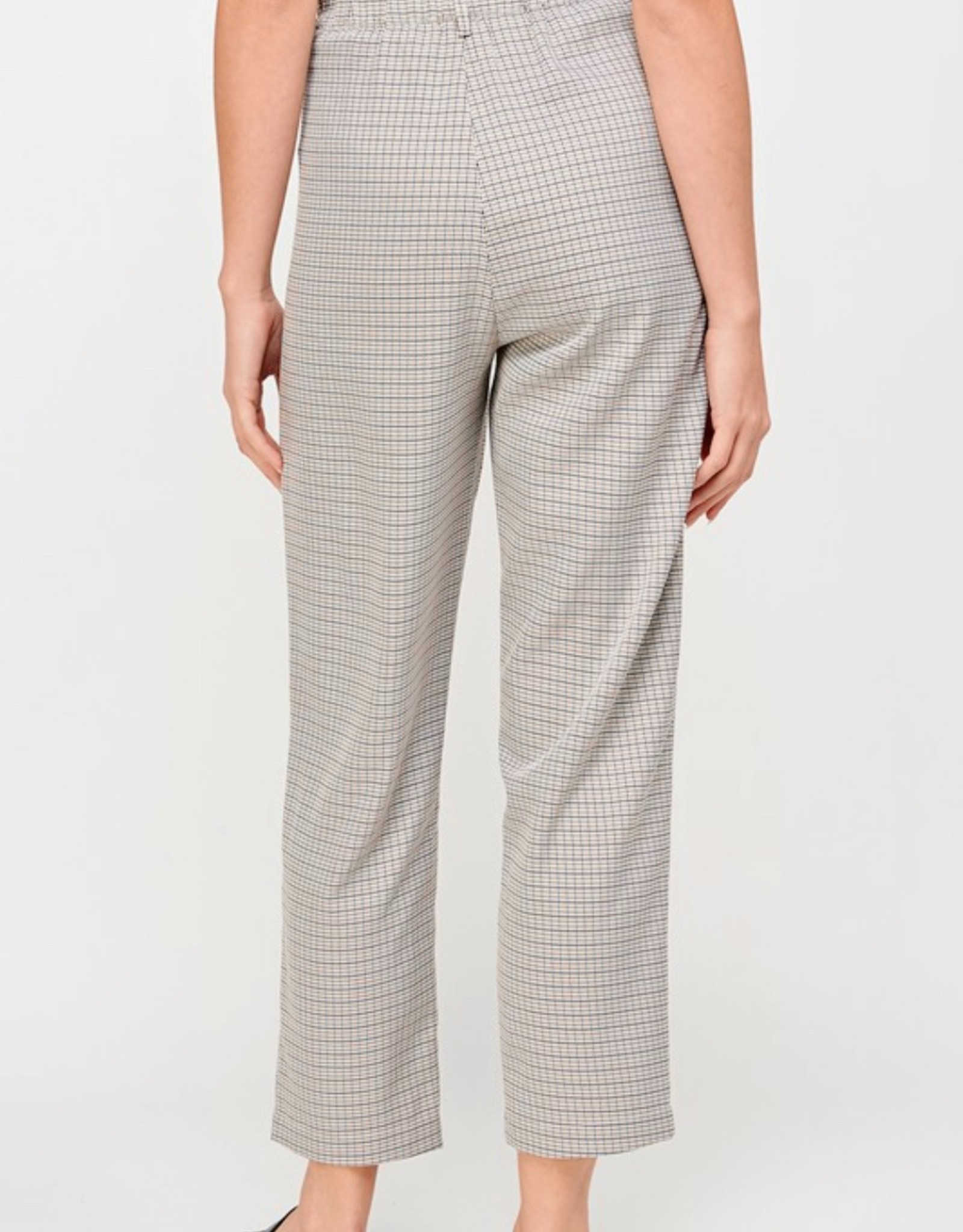 HUSH High waist plaid relaxed fit trousers