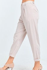 HUSH Woven solid cropped trousers