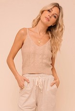 HUSH Cable knit cropped tank