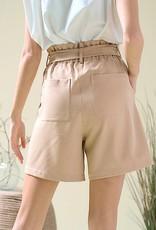 HUSH Paperbag bermuda shorts w/ belt