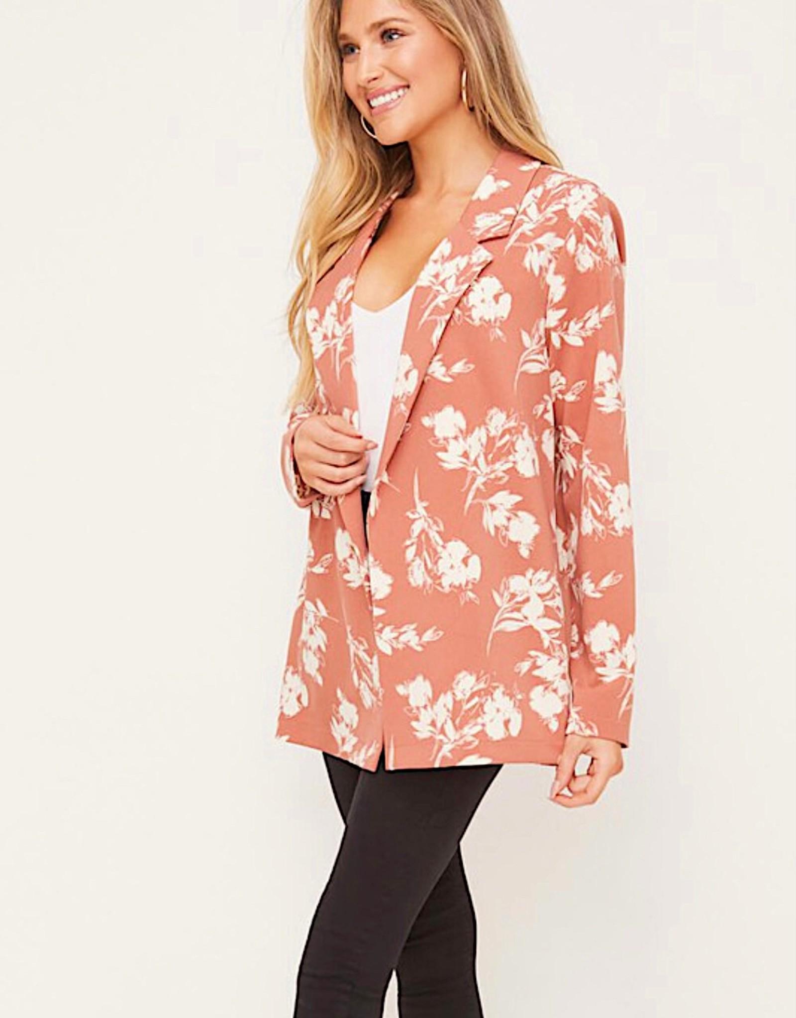 HUSH Printed long sleeve blazer