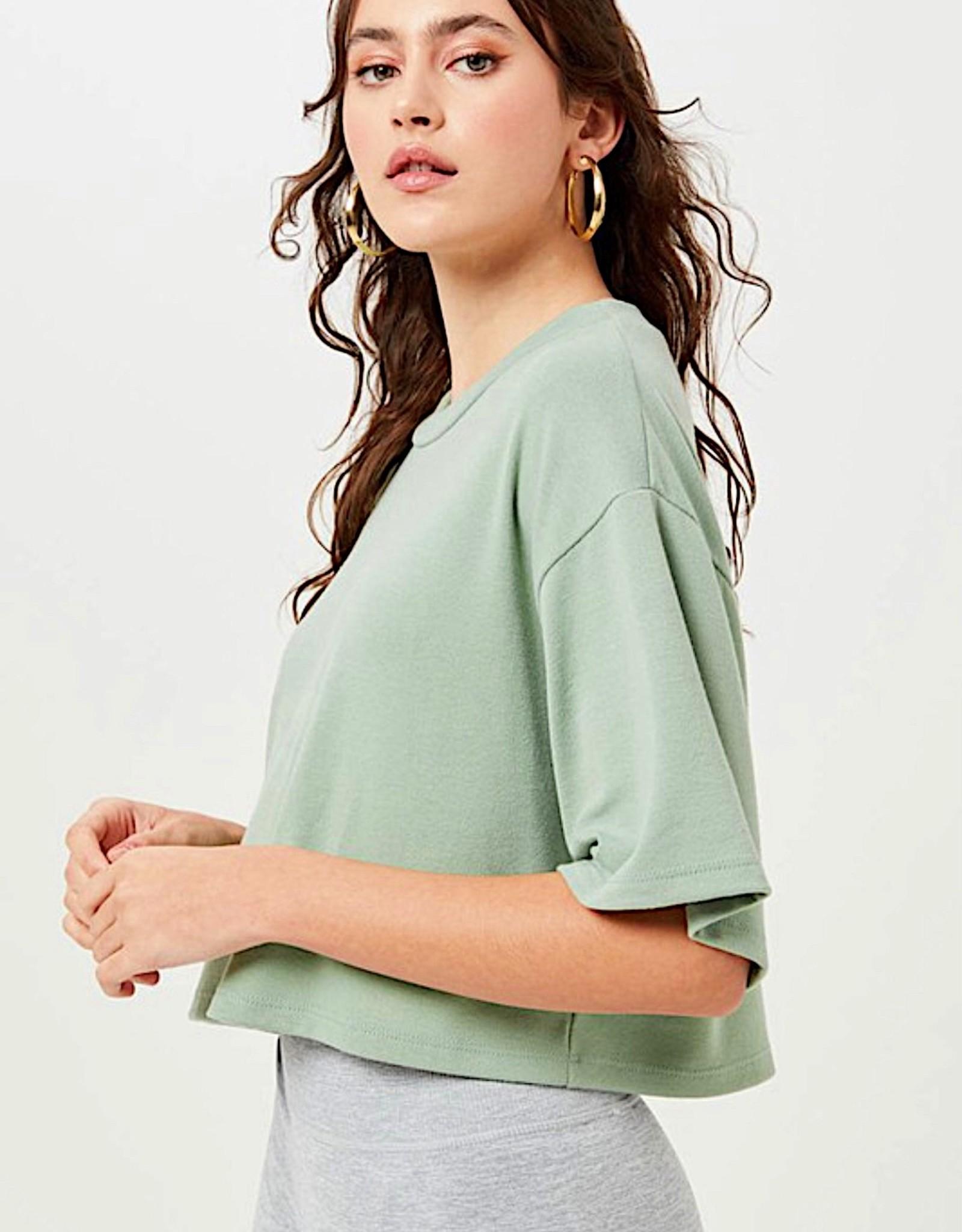 HUSH Soft s/s cropped tshirt