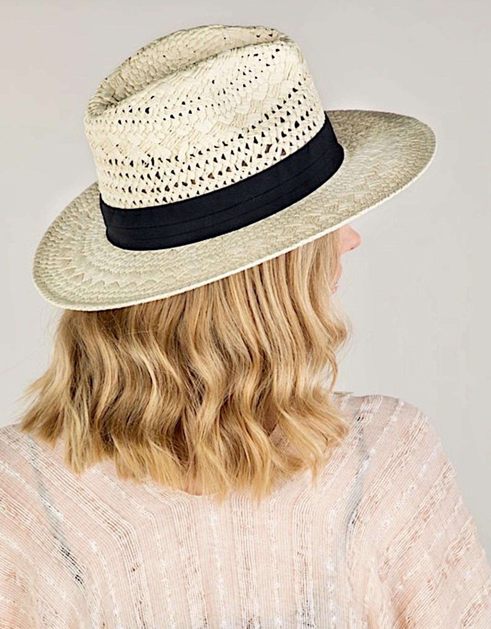 HUSH Panama hat w/ black ribbon
