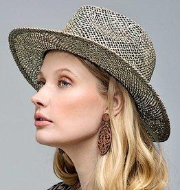 HUSH Panama sea grass open weave hat