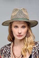 HUSH Panama sea glass open weave hat