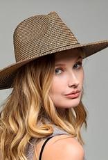 HUSH Panama hat w/ band & wood bead