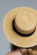 HUSH Wheat straw boater hat