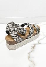 HUSH Aztec print platform sandals