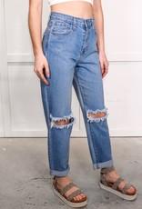 HUSH High rise boyfriend jeans