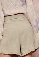 HUSH High waist shorts w/ ruffle trim