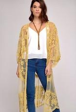 HUSH Crochet lace open kimono