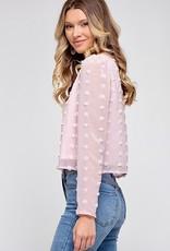 HUSH Pom pom l/s blouse