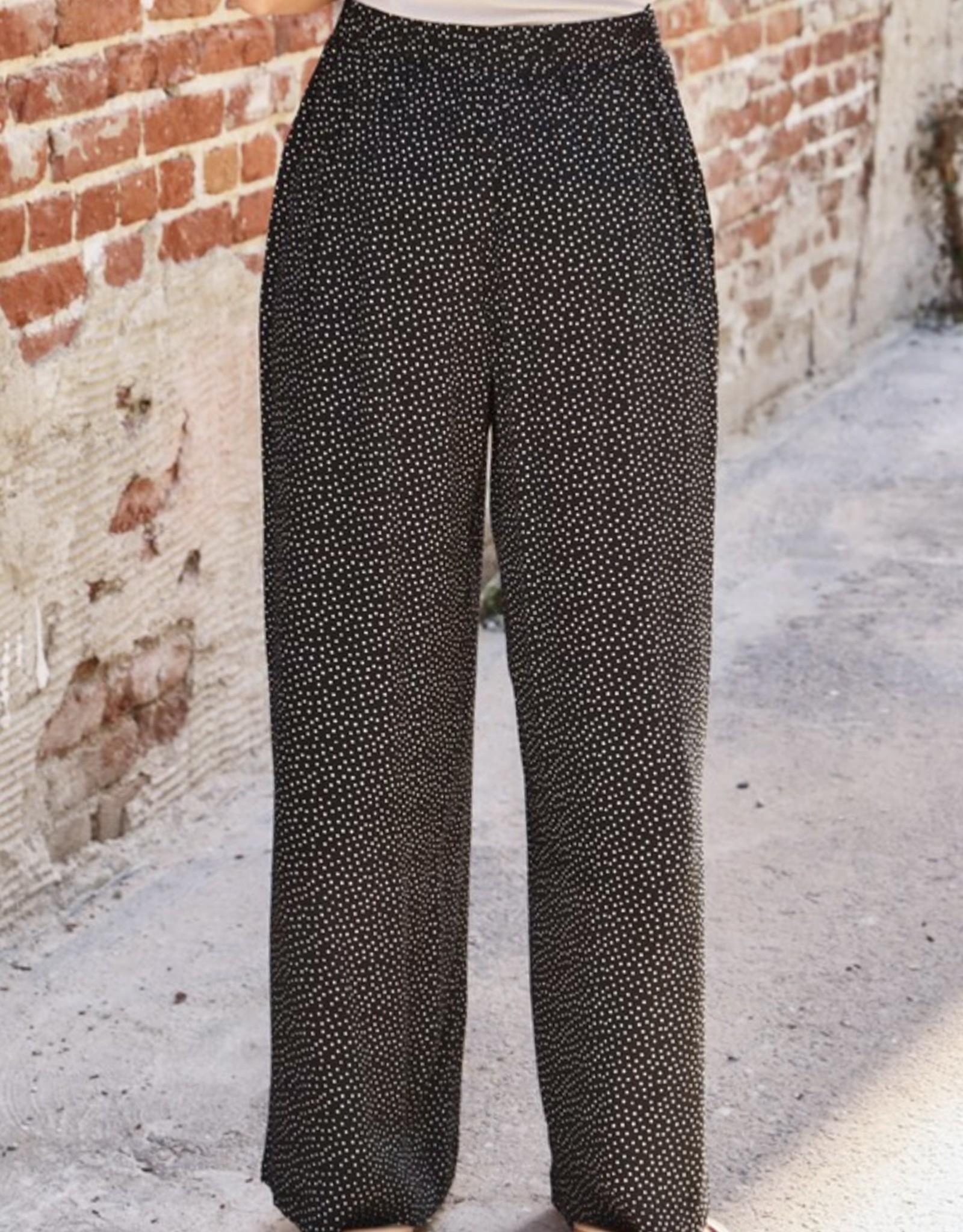HUSH Polka dot wide leg flowy pants