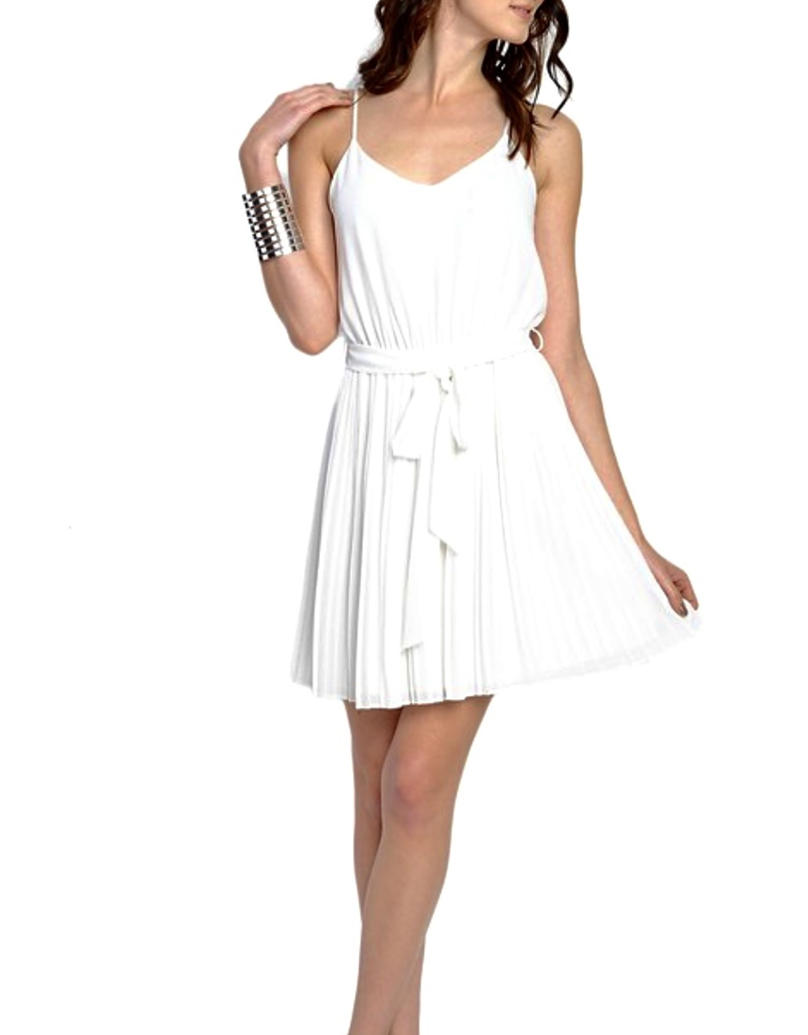 HUSH Halter style tie front knee length dress