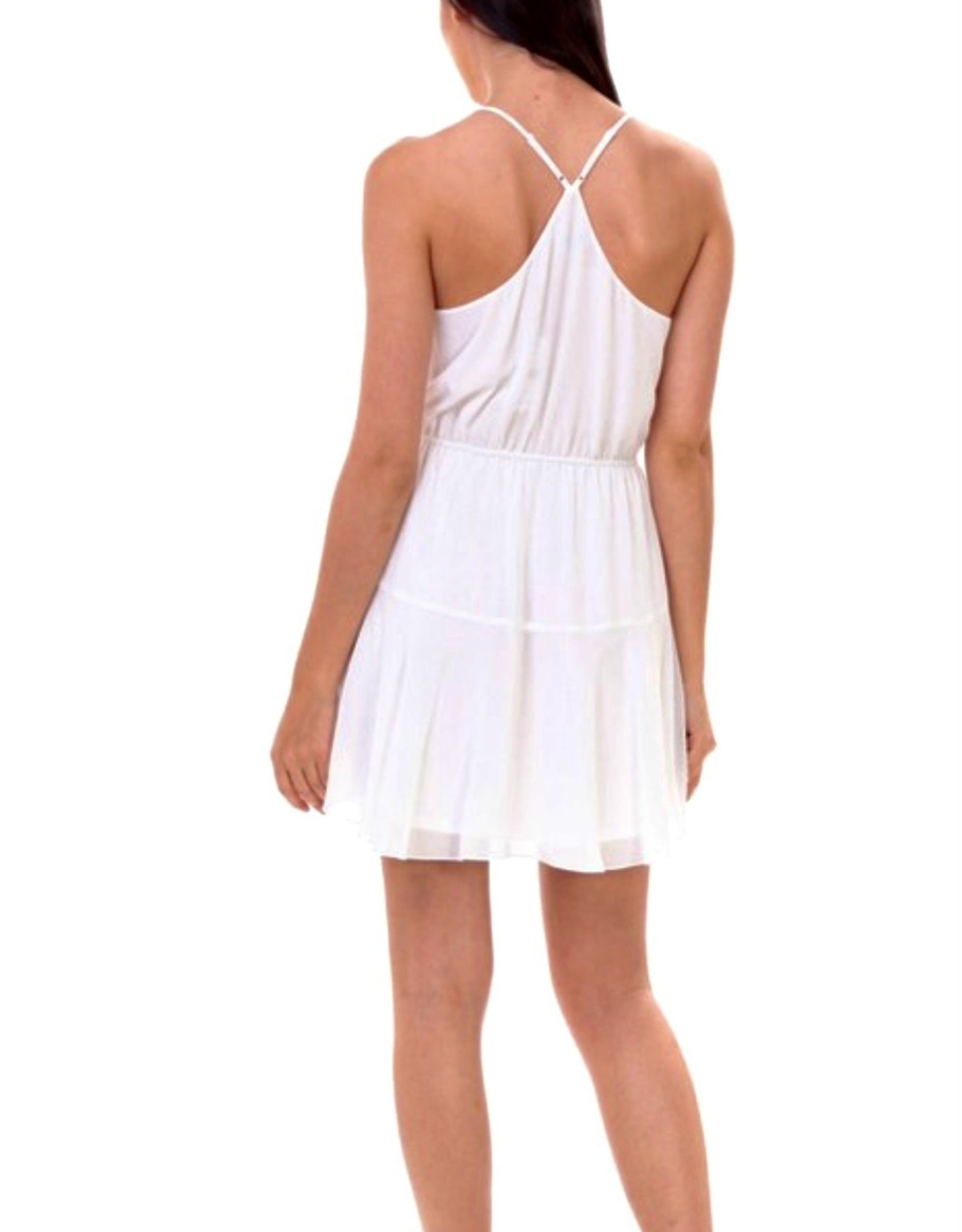 HUSH Flare racer back knee length dress